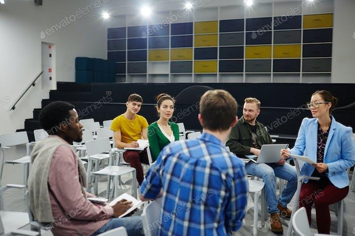 Talk of students