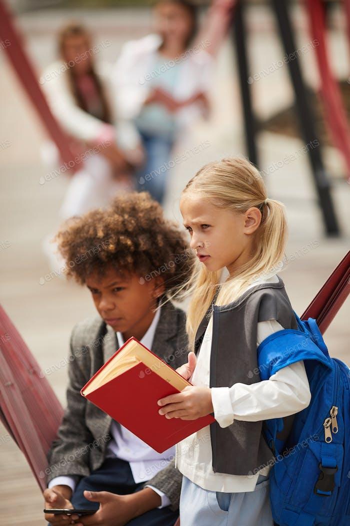 School children on playground