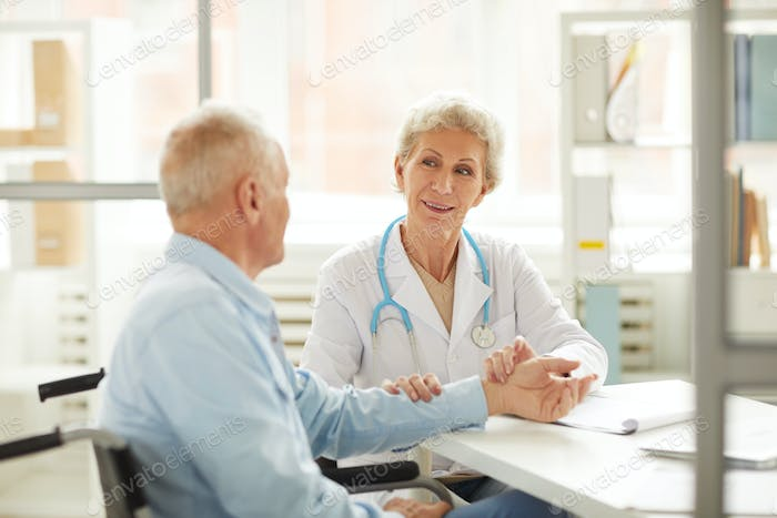 Senior Patient at Medical Checkup