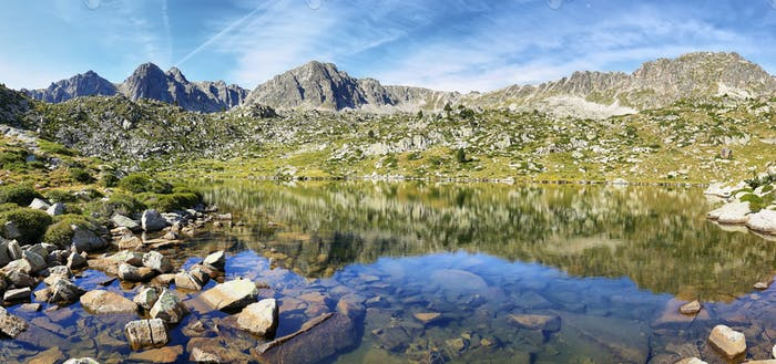 Lake in Collada de Pessons, Andorra.