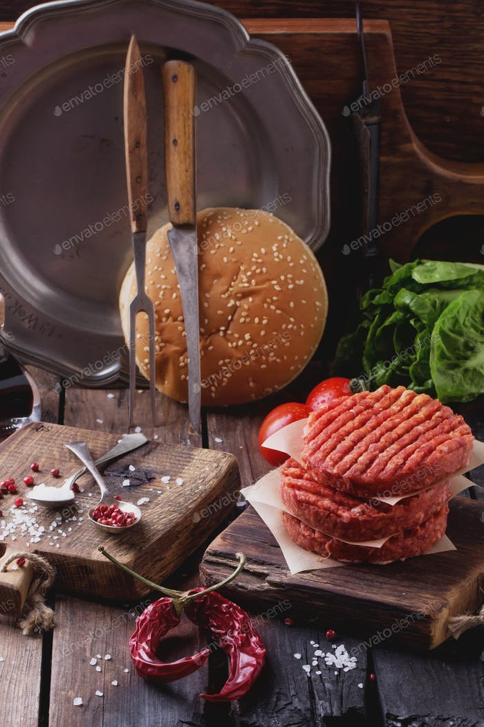 Thumbnail for Home made burger cooking