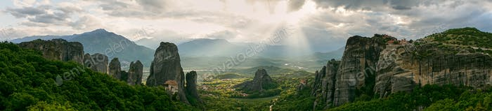 Thumbnail for Panoramic view of the rocks and monasteries of Meteora, Greece