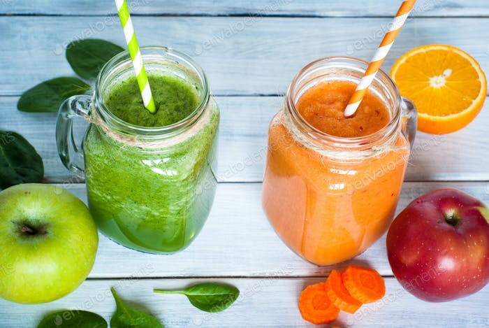 Orange and green smoothie