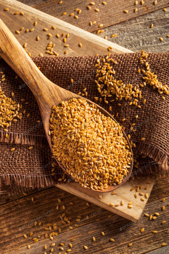 Raw Organic Golden Flax Seeds