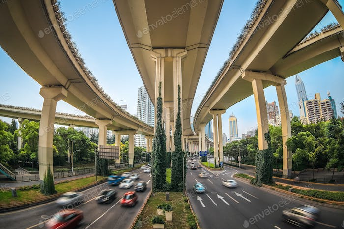 elevated traffic highway