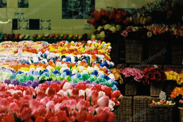 Fake Tulips in Amsterdam
