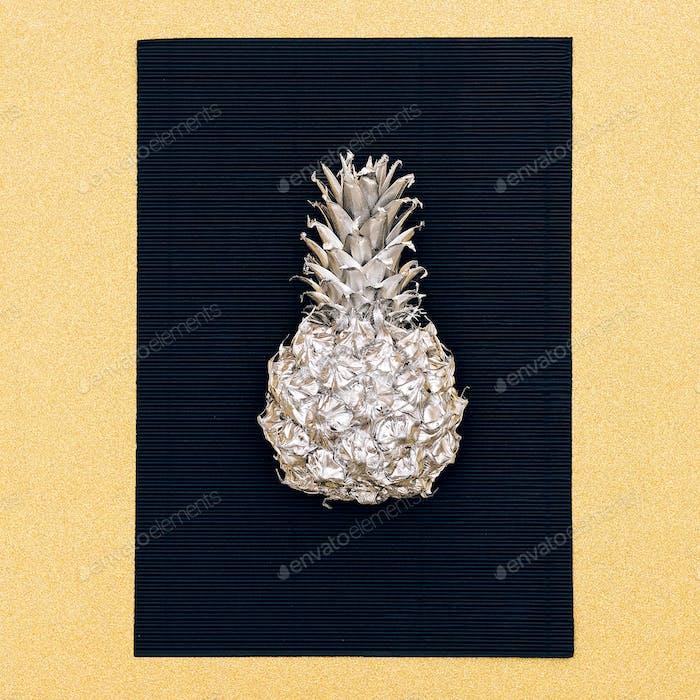 Silver fashion pineapple. Minimal style