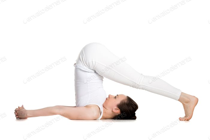 Yoga plow pose
