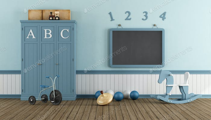 Retro child playroom