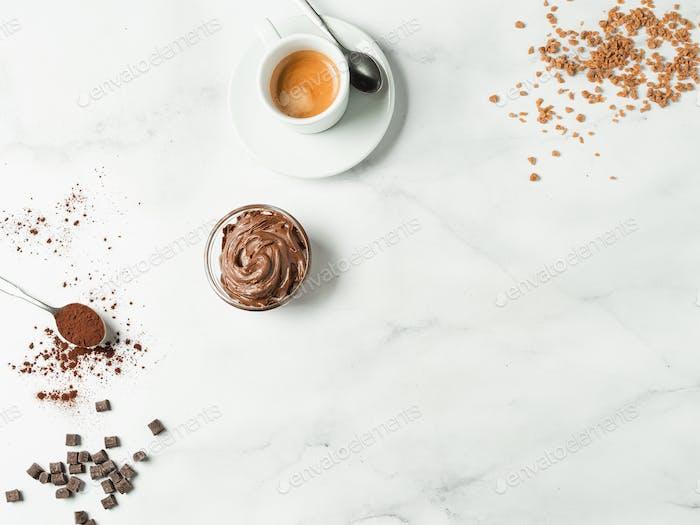 Süßer Hintergrund für Café-Menü