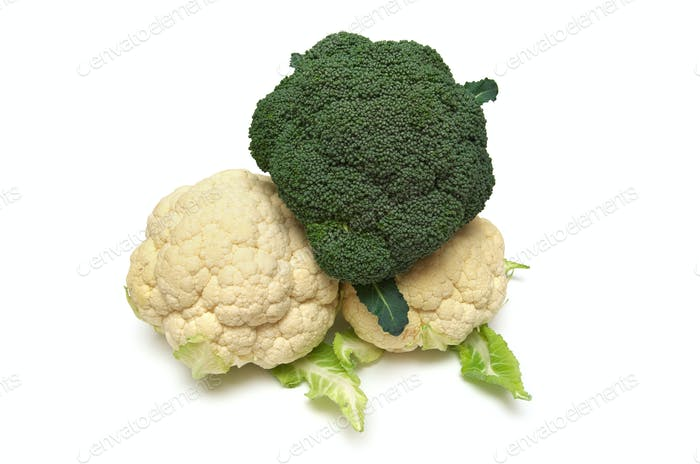 Isolated cauliflower on white.