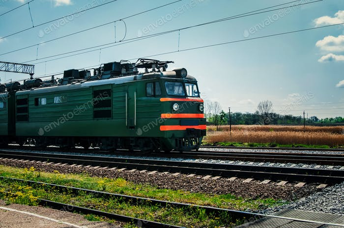 Diesel local train in Russia.