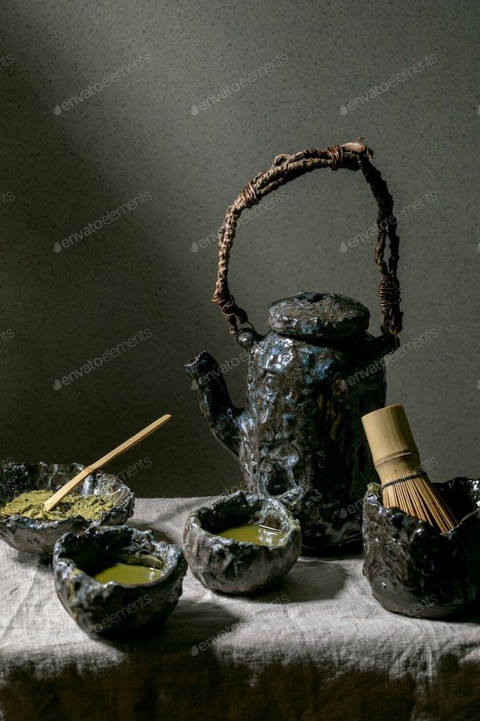 Japanischer Matcha grüner Tee
