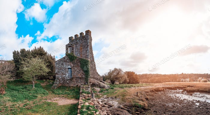Torres del Oeste ruins in Galicia