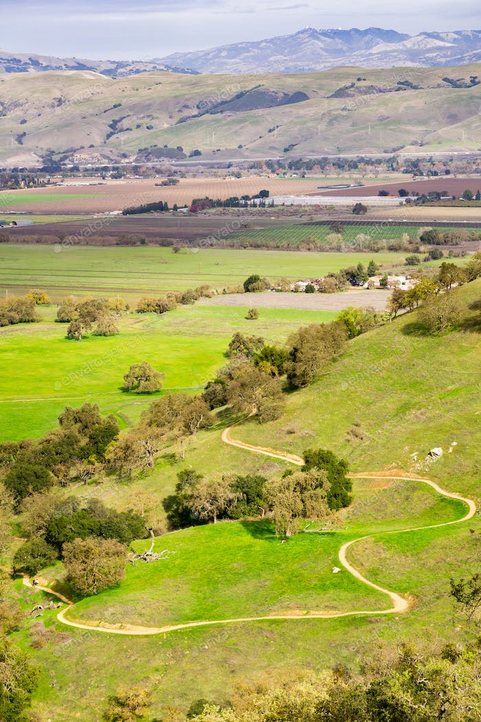 Landscape in Coyote Valley Open Space Preserve