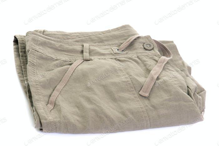 court pants in studio