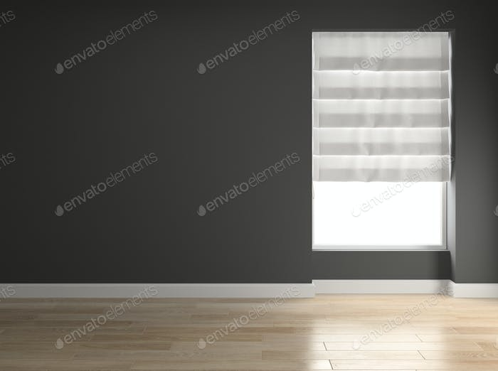 Interior empty room 3D rendering