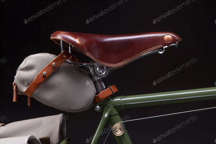 Stylish vintage bicycle saddle
