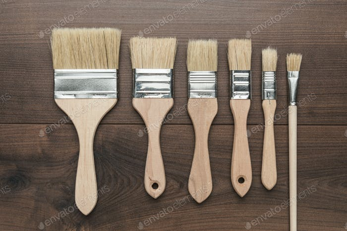 Brushes On The Table
