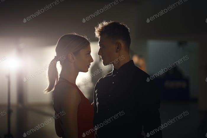 Dancing couple portrait