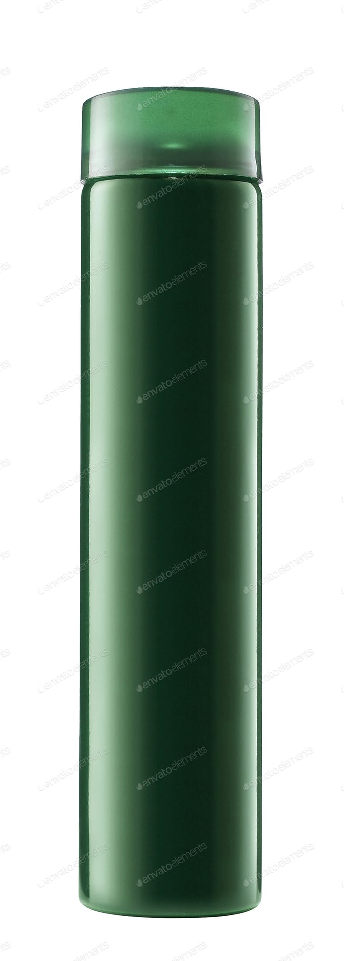 green spray can isolated