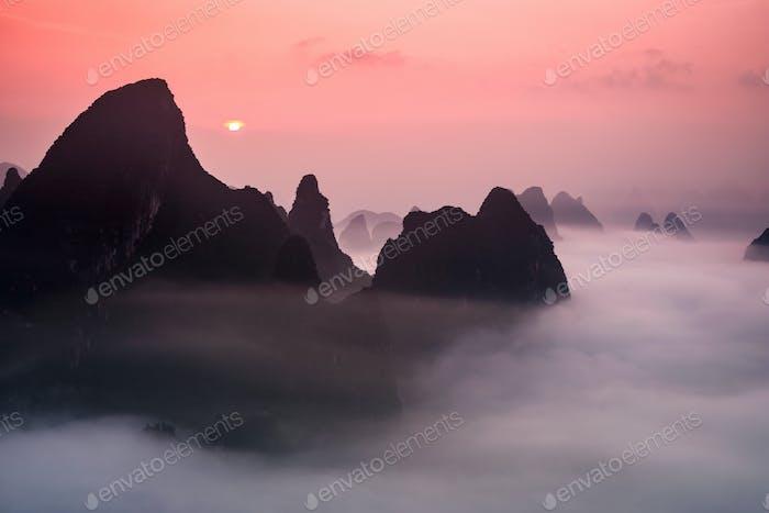 Guilin China Karst Mountains