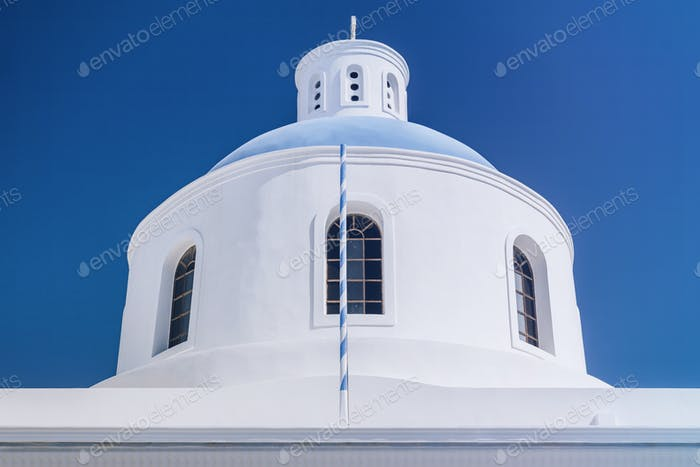 Santorini Greece. Church of Panagia Platsani