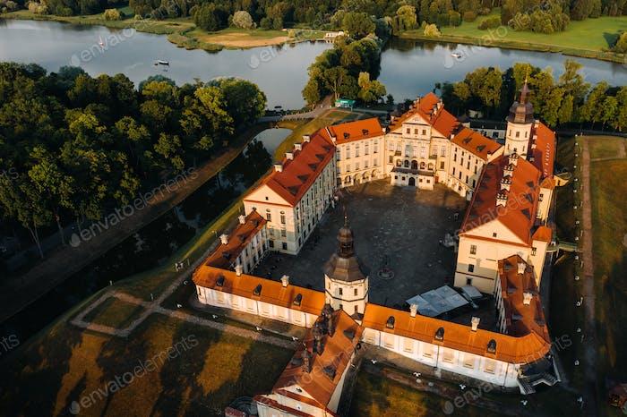 Mittelalterliche Burg in Nesvizh, Minsk Gebiet, Weißrussland