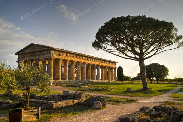 The ancient ruins of Paestum