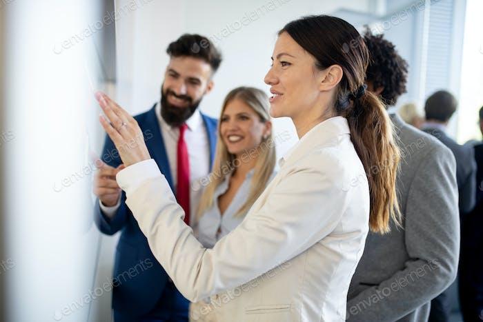 Meeting business corporate success brainstorming teamwork office concept