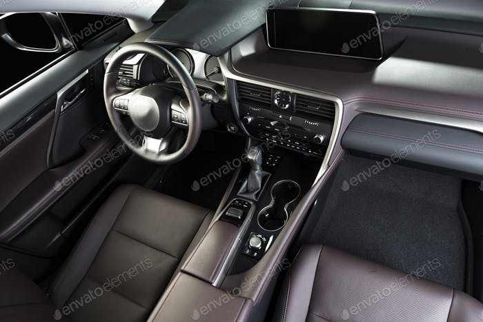 Car interior dashboard