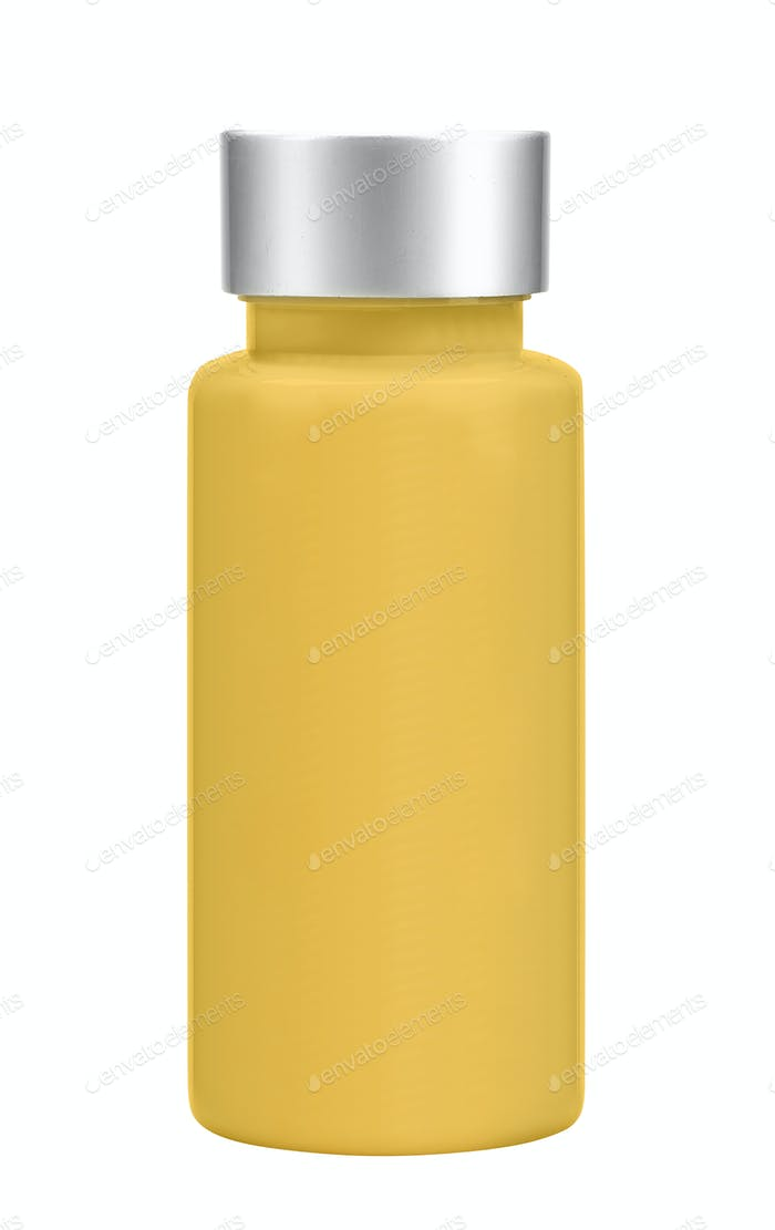 Orange bottle isolated on white background