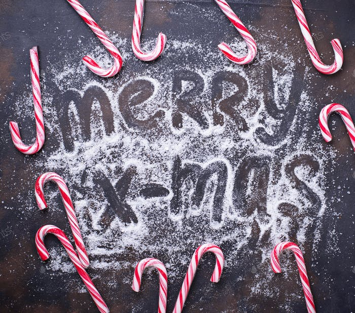 Weihnachten Hintergrund mit Zuckerrohr