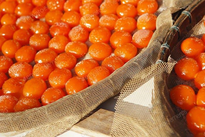 Gesalzenes Eigelb, traditionelle chinesische Küche