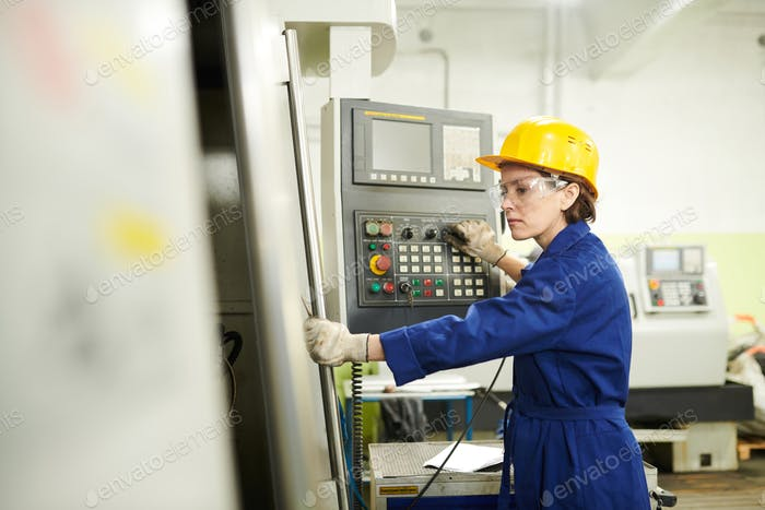 Female Foreman at Factory