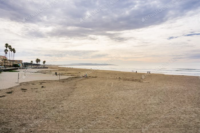 Pismo State Beach on a cloudy day, California