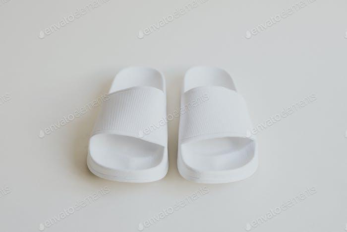 White slide sandal summer slippers