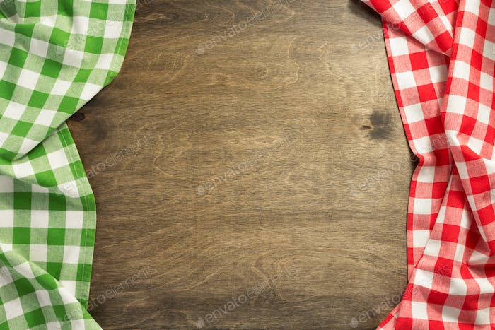 napkin cloth on wooden background