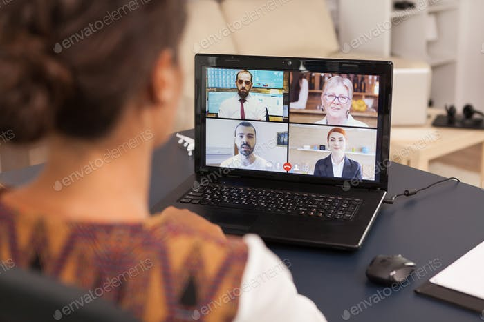 Online communication from home