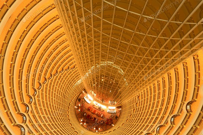 brilliant interior lightings in modern courtyard