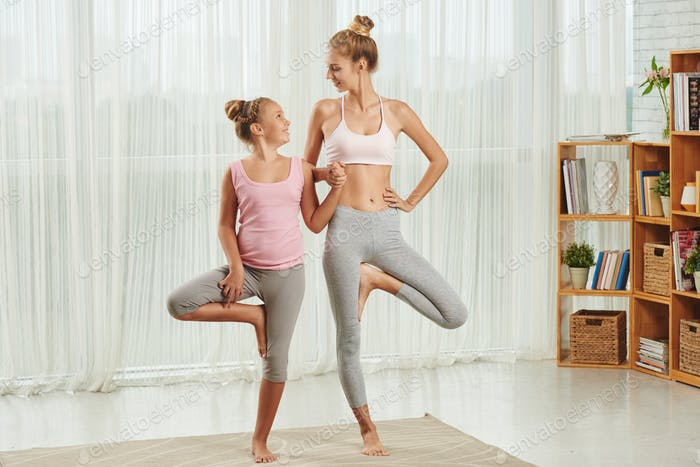 Yoga with daughter