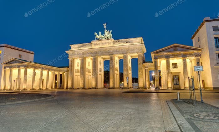 The famous Brandenburg Gate in Berlin