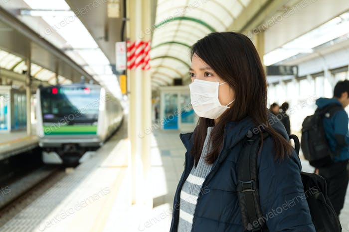 Woman worry about the air pollution