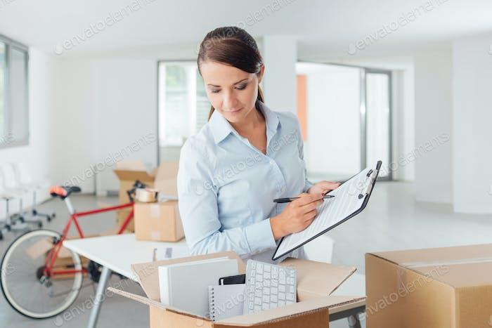 Checkliste für die Umlagerung von Büros