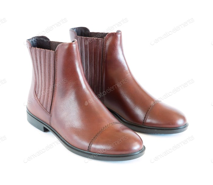 Isolated Pair Women's Leather Boots