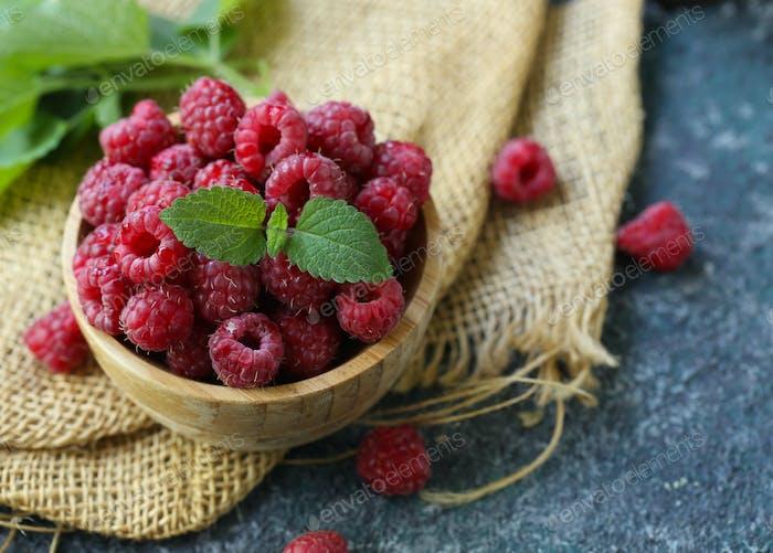 Organic Ripe Sweet Raspberries