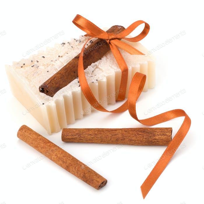 Luxurious handmade cinnamon soap
