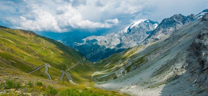 Famous Stelvio Mountain Pass