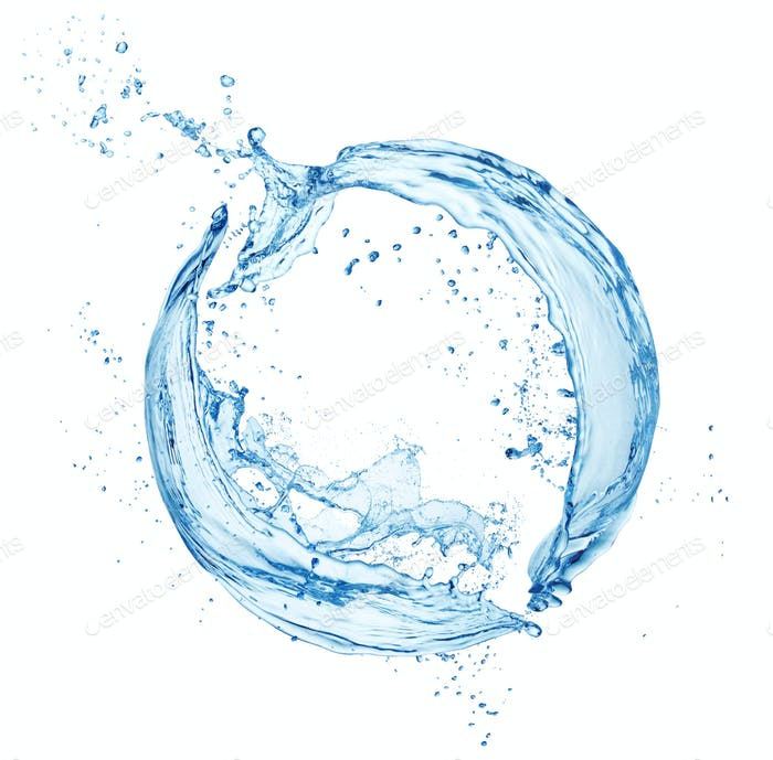 Water Splash In Circle