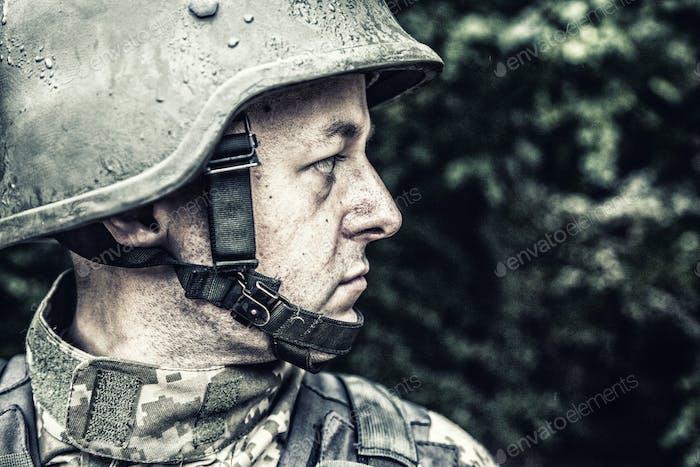 ukrainian military soldier